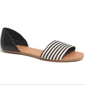 Madewell Open Toe Striped Sandals